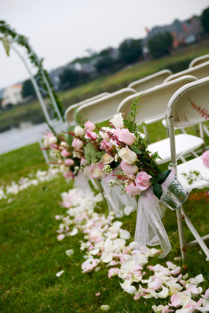 Aisle Pail Of Flowers