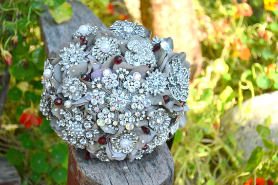 grey bling bouquet