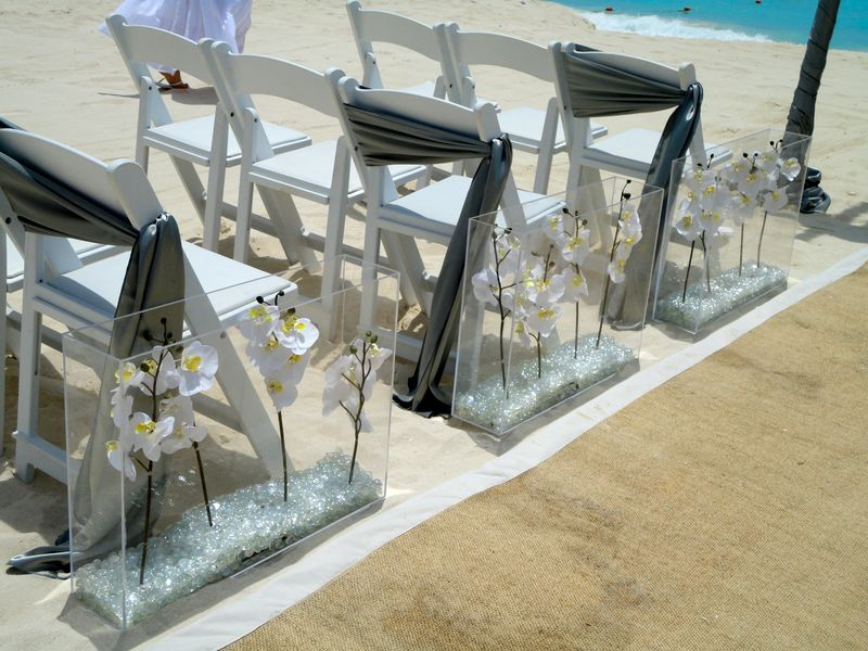 beach pail wedding aisle decoration