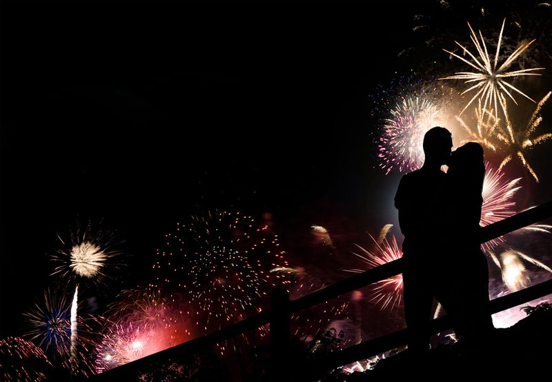Kissing-fireworks